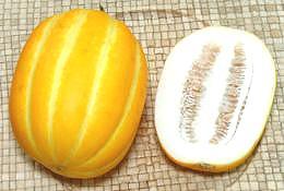 Whole And Cut Korean Melon